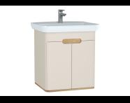 60793 - Sento lavabo dolabı, kapaklı, ayaksız, 65 cm, mat krem