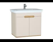 60797 - Sento lavabo dolabı, kapaklı, ayaksız, 80 cm, mat krem