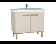 60798 - Sento lavabo dolabı, kapaklı, ayaklı, 100 cm, mat krem