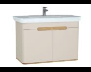 60799 - Sento lavabo dolabı, kapaklı, ayaksız, 100 cm, mat krem