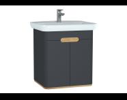 60805 - Sento lavabo dolabı, kapaklı, ayaksız, 65 cm, mat antrasit
