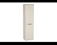 60843 - Sento boy dolabı, çamaşır sepetli, ayaksız, 40 cm, mat krem, sağ