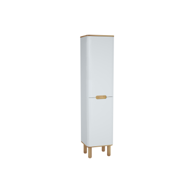 Sento Tall Unit, 40 cm, with legs, Matte White, right