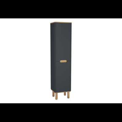 Sento boy dolabı, ayaklı, 40 cm, mat antrasit, sağ