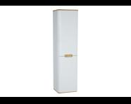 60848 - Sento boy dolabı, ayaksız, 40 cm, mat beyaz, sağ