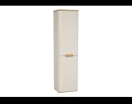 60849 - Sento boy dolabı, ayaksız, 40 cm, mat krem, sağ