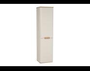 60855 - Sento boy dolabı, çamaşır sepetli, ayaksız, 40 cm, mat krem, sol