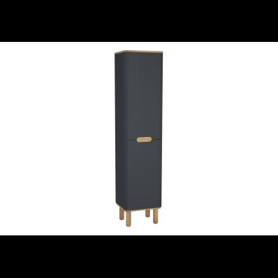 Sento boy dolabı, ayaklı, 40 cm, mat antrasit, sol