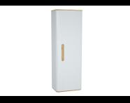 60863 - Sento boy dolabı, temizlik gereçleri, 55 cm, mat beyaz, sağ