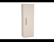60864 - Sento boy dolabı, temizlik gereçleri, 55 cm, mat krem, sağ