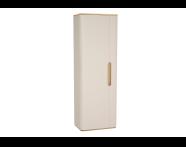 60867 - Sento boy dolabı, temizlik gereçleri, 55 cm, mat krem, sol