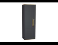 60868 - Sento boy dolabı, temizlik gereçleri, 55 cm, mat antrasit, sol