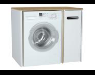60869 - Sento çamaşır makinesi dolabı, 105 cm, mat beyaz, sağ