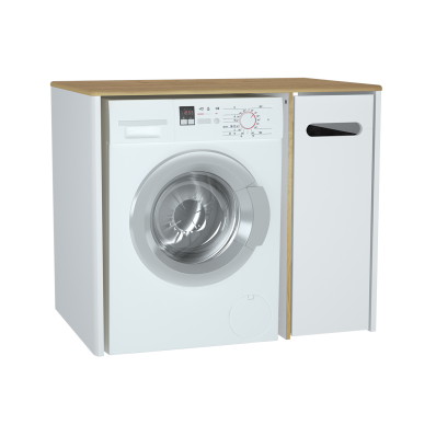 Sento çamaşır makinesi dolabı, 105 cm, mat beyaz, sağ