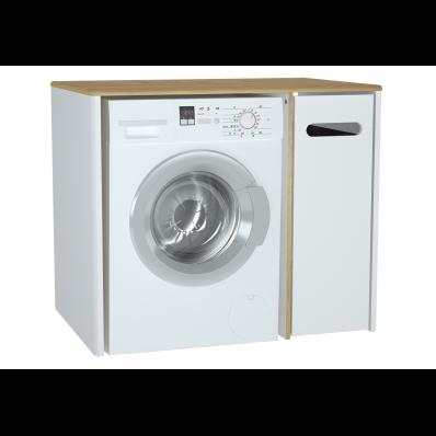 Sento Laundry Unit, 105 cm, Matte White, right