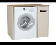 60870 - Sento çamaşır makinesi dolabı, 105 cm, mat krem, sağ