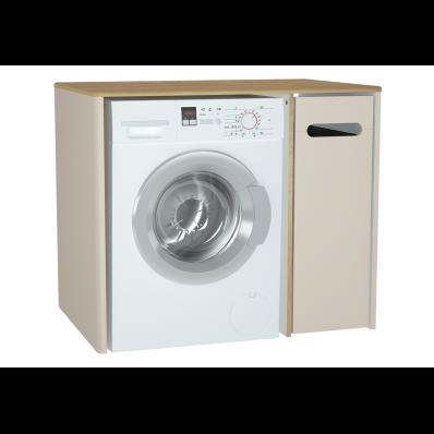 Sento çamaşır makinesi dolabı, 105 cm, mat krem, sağ