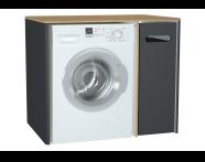 60871 - Sento çamaşır makinesi dolabı, 105 cm, mat antrasit, sağ