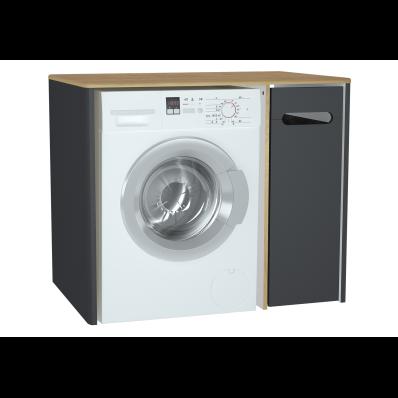 Sento çamaşır makinesi dolabı, 105 cm, mat antrasit, sağ