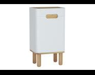 60879 - Sento orta ünite, ayaklı, 40 cm, mat beyaz, sol
