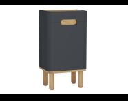 60881 - Sento orta ünite, ayaklı, 40 cm, mat antrasit, sol