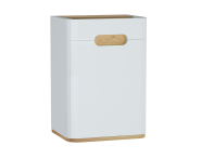 60882 - Sento orta ünite, ayaksız, 40 cm, mat beyaz, sol