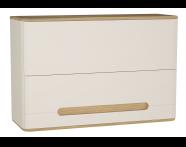60886 - Sento üst dolap, 105 cm, mat krem