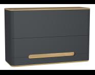 60887 - Sento üst dolap, 105 cm, mat antrasit