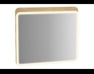 60889 - Sento Aydınlatmalı ayna, 60 cm, açık meşe