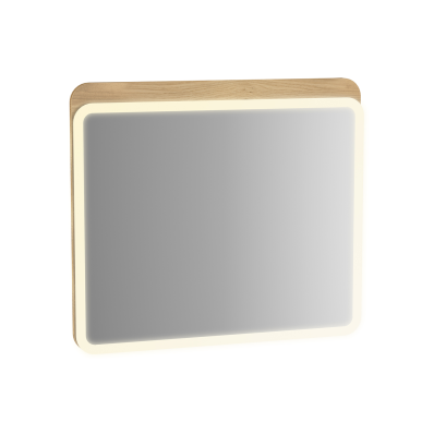 Sento Aydınlatmalı ayna, 80 cm, açık meşe