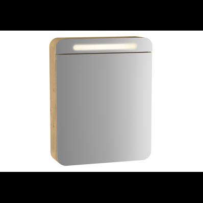 Sento Illuminated mirror cabinet, 50 cm, Oak, Right
