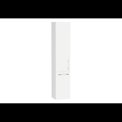 Ecora Boy dolabı, tel sepetli, 35 cm, Parlak Beyaz, sol