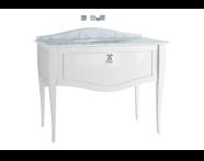 60981 - Elegance Lavabo Dolabı, tezgahaltı lavabolu, mermersiz, 100 cm, Mat Beyaz, krom kulplu