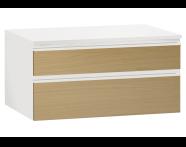 61005 - Memoria Black&White Alt modül, 80 cm, Hareli Meşe & Mat Beyaz