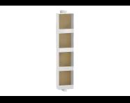 61006 - Memoria Black&White Üst modül, 20 cm, Hareli Meşe & Mat Beyaz