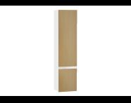 61007 - Memoria Black&White Boy dolabı, 40 cm, Hareli Meşe & Mat Beyaz, sol