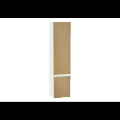 Memoria Black & White Tall Unit, 40 cm, Matte White, left