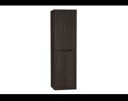 61031 - Folda Boy dolabı, 45 cm, Gri Meşe, sol