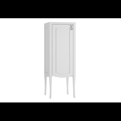 Elegance Orta boy dolabı, 40 cm, Mat Beyaz, krom kulplu, sol