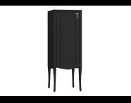 61087 - Elegance Orta boy dolabı, 40 cm, Mat Siyah, krom kulplu, sol