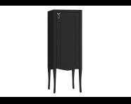 61088 - Elegance Orta boy dolabı, 40 cm, Mat Siyah, krom kulplu, sağ