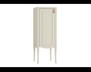 61089 - Elegance Orta boy dolabı, 40 cm, Mat kum beji, bakır kulplu, sol