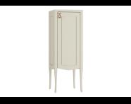 61090 - Elegance Orta boy dolabı, 40 cm, Mat kum beji, bakır kulplu, sağ