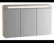 61194 - Sento Aydınlatmalı dolaplı ayna, 120 cm, açık meşe