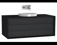 61202 - Frame Lavabo Dolabı, 100 cm, Tek Çekmeceli, Mat Siyah