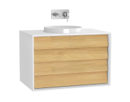 61207 - Frame Washbasin Unit, 80 cm, with 2 drawers, Matte White
