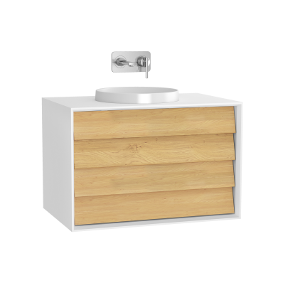 Frame Washbasin Unit, 80 cm, with 2 drawers, Matte White