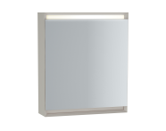 61236 - Frame Dolaplı ayna, 60 cm, Mat Beyaz, sol