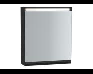 61237 - Frame Dolaplı ayna, 60 cm, Mat Siyah, sol