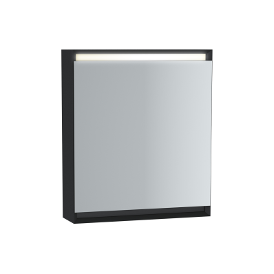 Frame Dolaplı ayna, 60 cm, Mat Siyah, sol